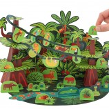 Tropical Forest Paper Toy