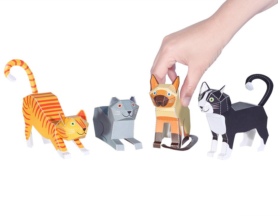 Как на бумаге сделать игрушку для кошки 301