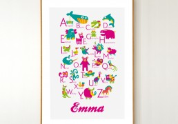 Personalized French Alphabet Poster