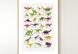 Dinosaurs Alphabet Poster