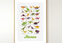 Personalized Dinosaurs Alphabet Poster