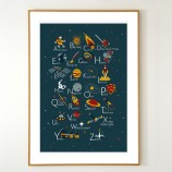 English Space Alphabet Poster