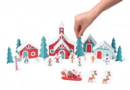 Christmas Paper Village