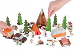 Camping Paper Toy