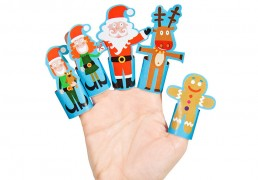 Christmas Paper Finger Puppets