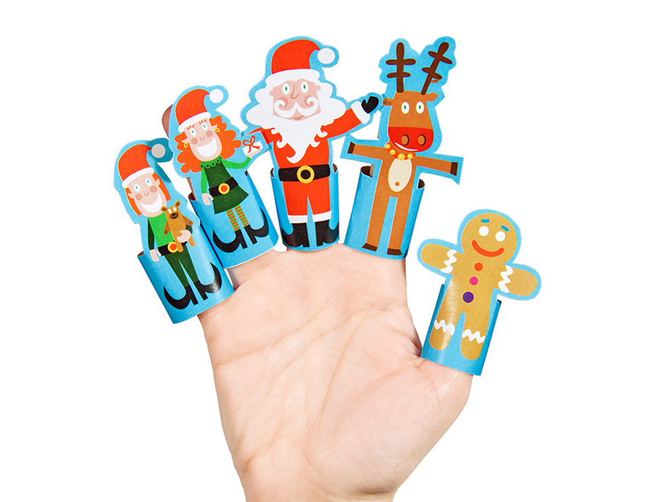 paper finger puppets templates - christmas paper finger puppets printable pdf pukaca