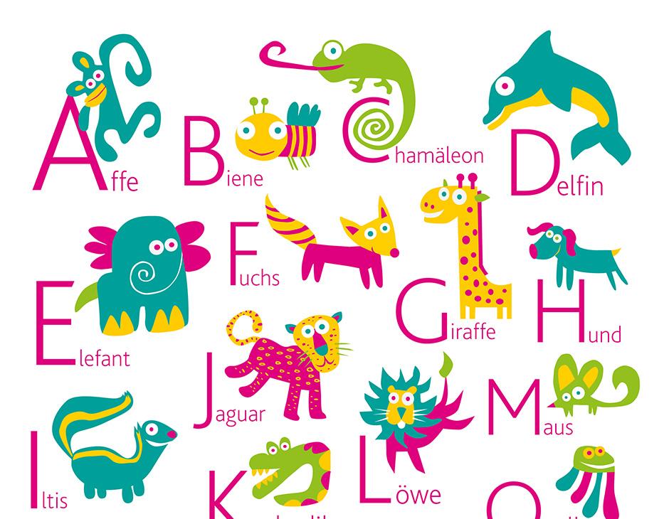 German Alphabet Poster | PUKACA