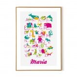 Personalized Spanish Alphabet Poster