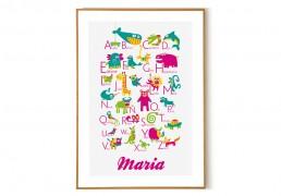 Personalized Spanish Alphabet Poster