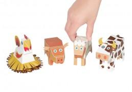 Farm Animals Paper Toys