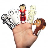 Halloween Monsters Paper Finger Puppets