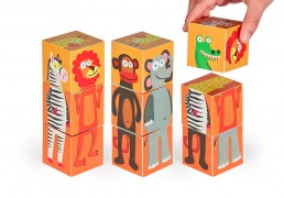 Jungle Animals Paper Blocks