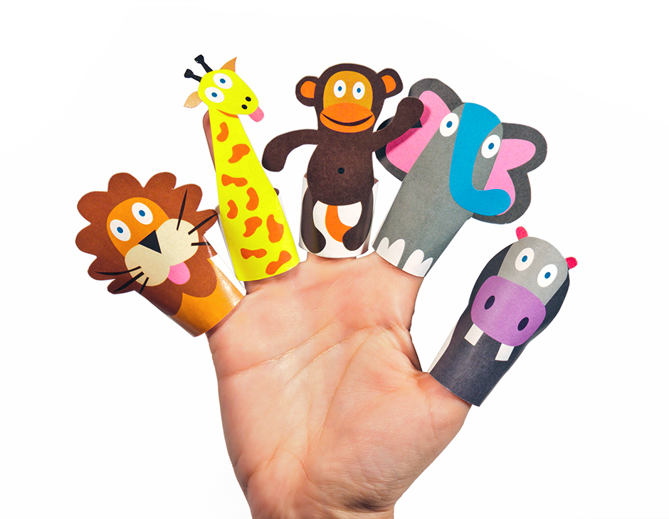 Jungle animals paper finger puppets printable pdf pukaca for Paper finger puppets templates