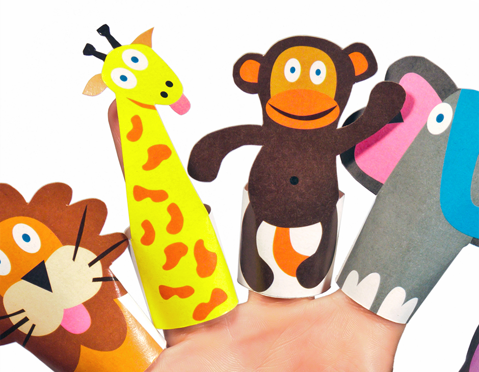 paper finger puppets Diy finger puppet kits with the kids this week and they were a huge hit  save  your toilet paper rolls to create the finger puppet kits.