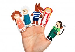 Little Red Riding Hood Paper Finger Puppets