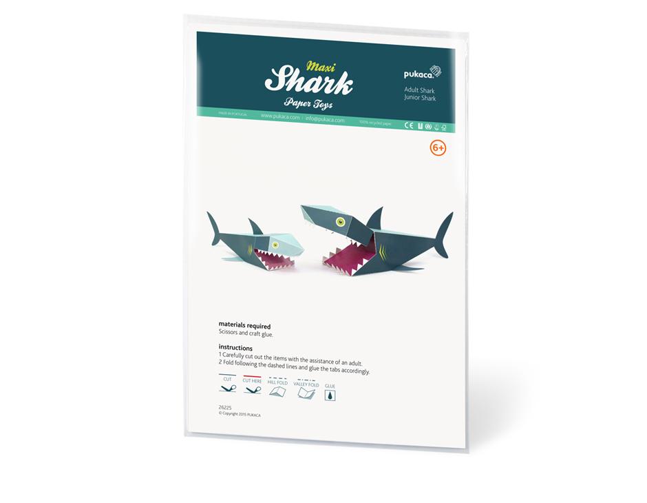 Shark Paper Toy : Maxi shark paper toys pukaca