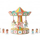 Carousel Paper Toy