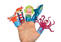 Fantastic Sea Story Paper Finger Puppets