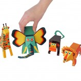 Jungle Animals Paper Toys