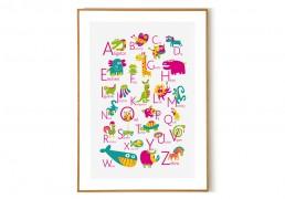 English Alphabet Poster