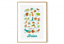Personalized English Alphabet Poster