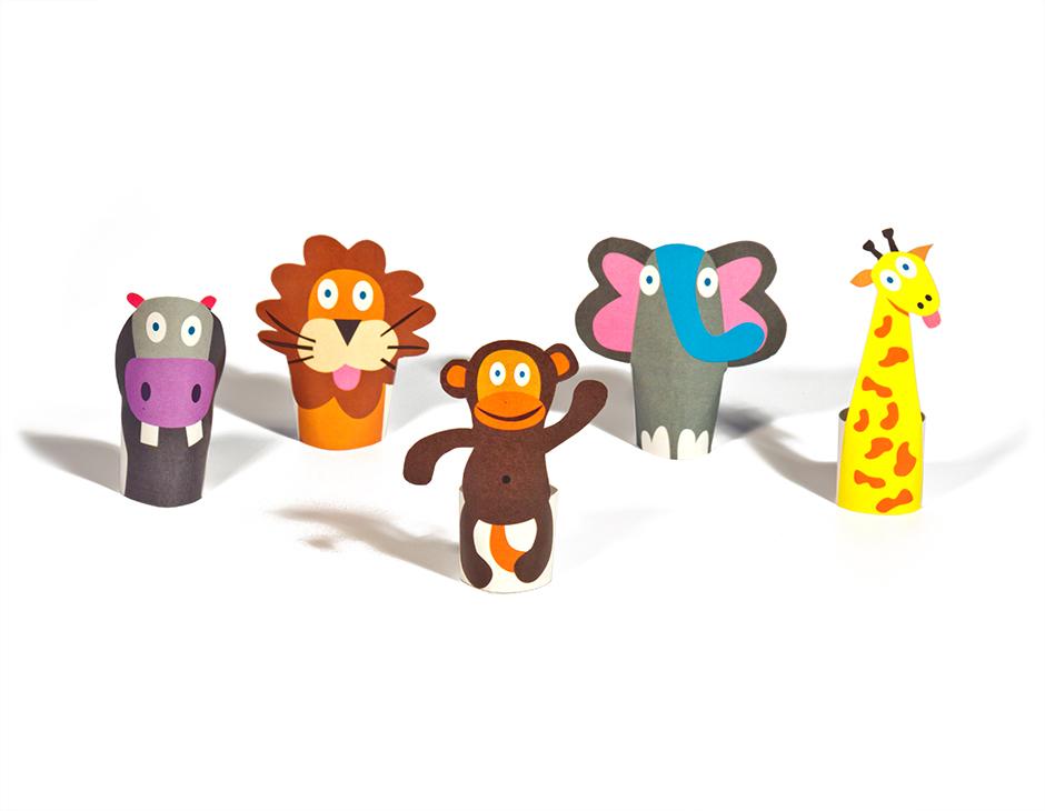 Kids Jungle Puppet Craft