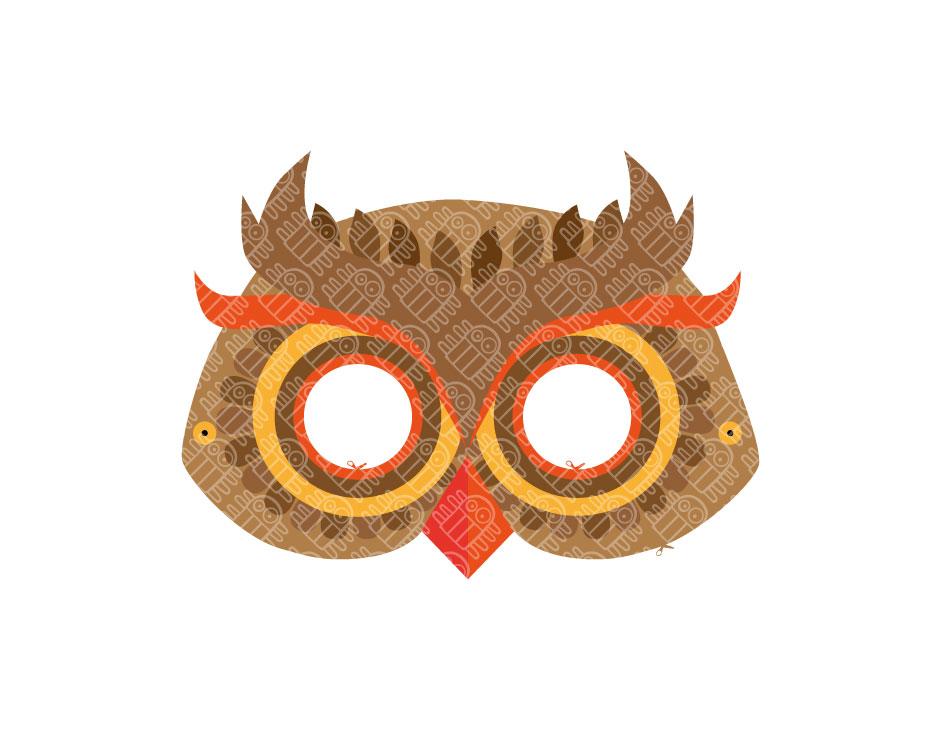 Superb Owl Paper Mask PRINTABLE PDF